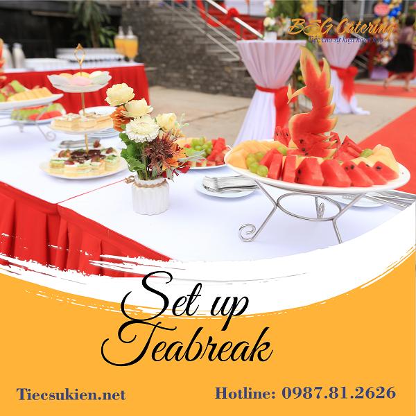 Set up tiệc teabreak cho sự kiện