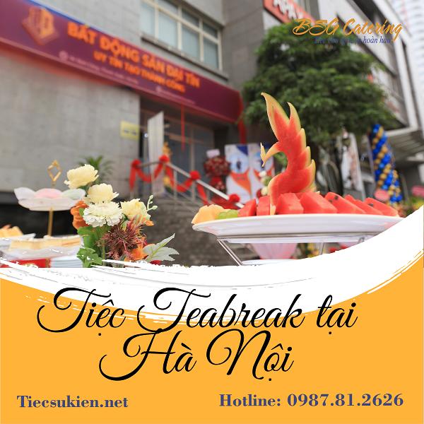 Điểm mạnh dịch vụ tiệc teabreak tại Hà Nội - Bsg Catering