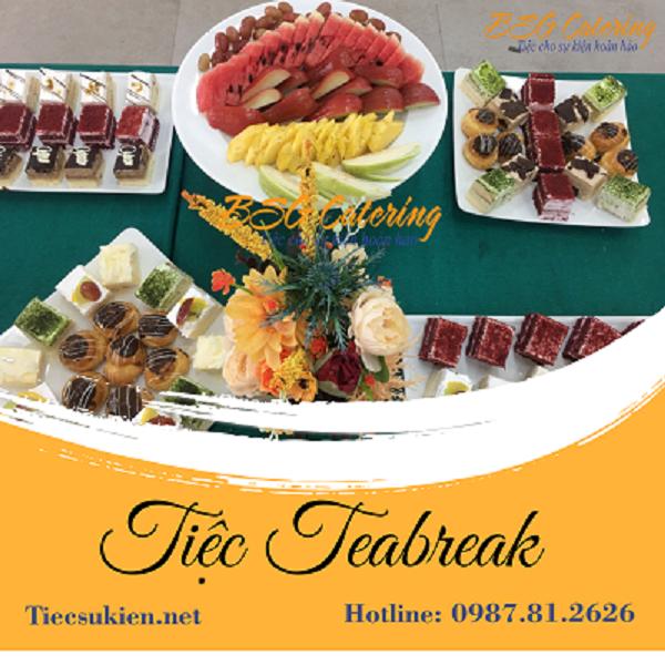 teabreak - tiệc khai trương